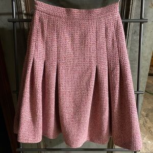 Chanel Pink Cashmere Pleated Skirt